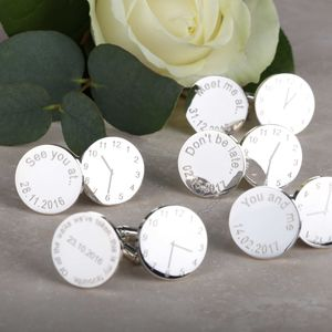 Personalised Wedding Cufflinks With Sayings - personalised jewellery