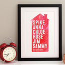 Family Home Personalised Print