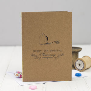 Sixth Wedding Anniversary Card Iron - anniversary cards