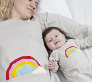 Mum And Baby Matching Set Rainbow Design