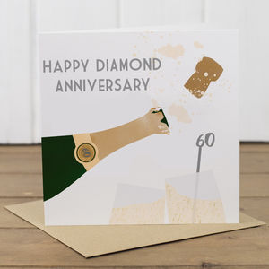 60th Diamond Wedding Anniversary Card