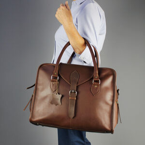 Women's Personalised Leather Day Bag