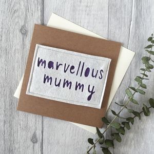 Birthday 'Marvellous Mummy' Card - birthday cards