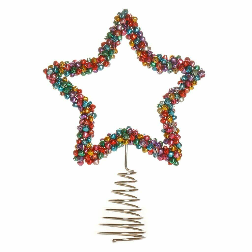 Peace Christmas Tree Topper.Shine Bright Handmade Christmas Tree Topper With Bells