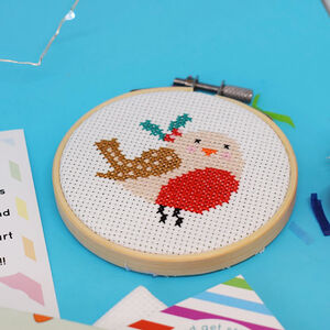 Festive Robin Cross Stitch Craft Kit