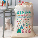 Personalised Make A Wish Christmas Sack