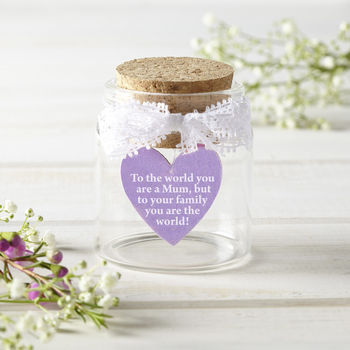 Personalised Best Mum Heart Token