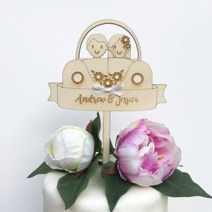 Personalised Car Wedding Cake Topper - styling your day sale