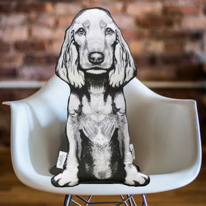 Cocker Spaniel 'The Attendant' Sofa Sculpture® Cushion - new in home