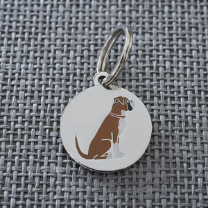 Boxer Dog ID Name Tag - dogs