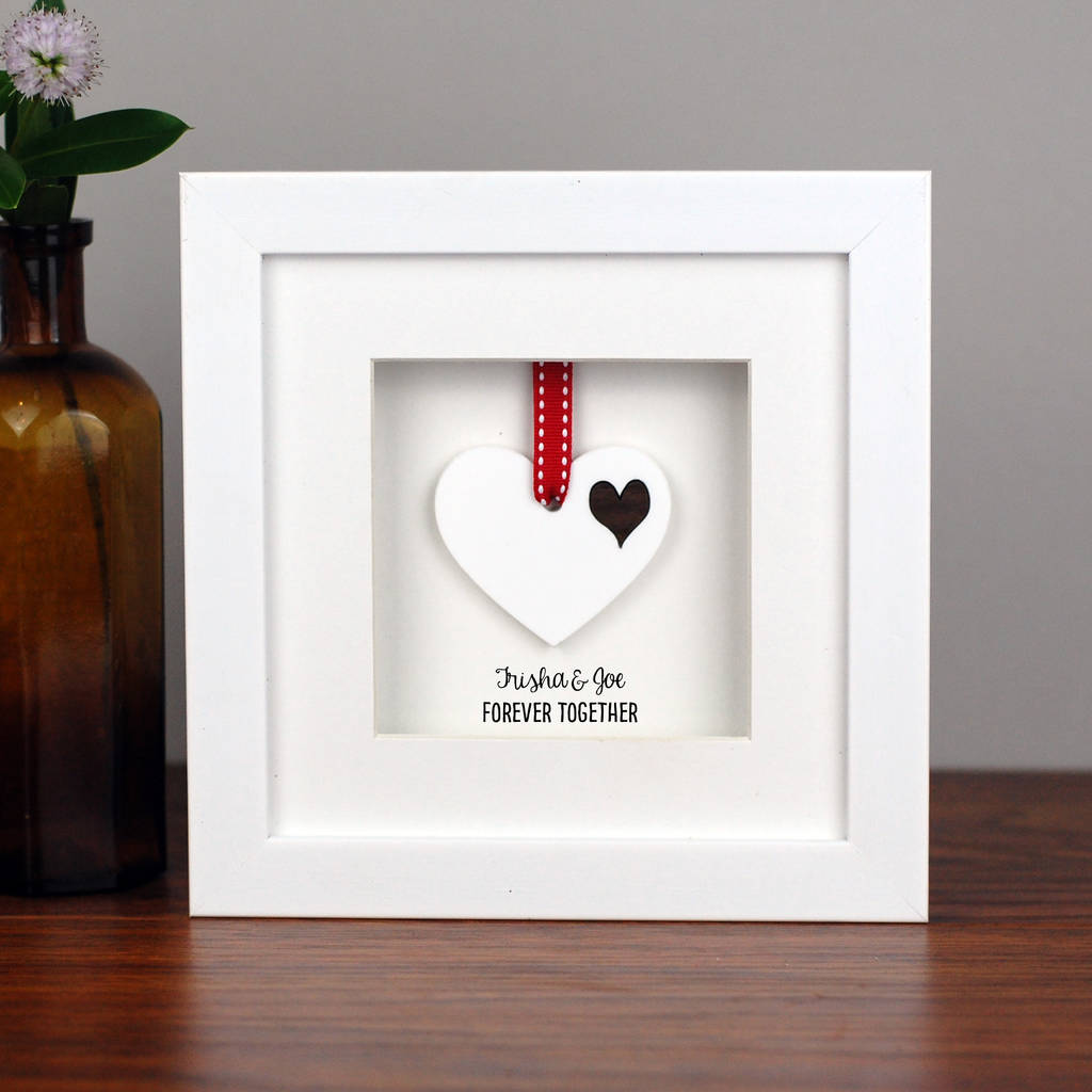 personalised double white heart frame by afewhometruths ...