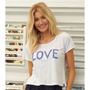 Love Sequins Cotton T Shirt