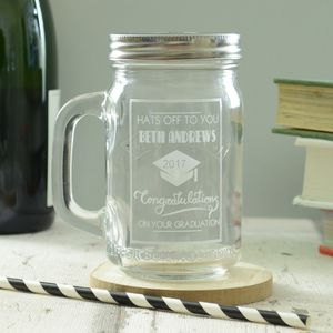Graduation Personalised Drinking Jar - home accessories