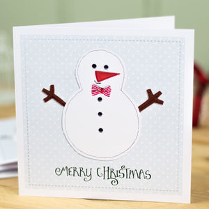 Single Or Pack Of Christmas Cards Snowman Design - christmas card packs