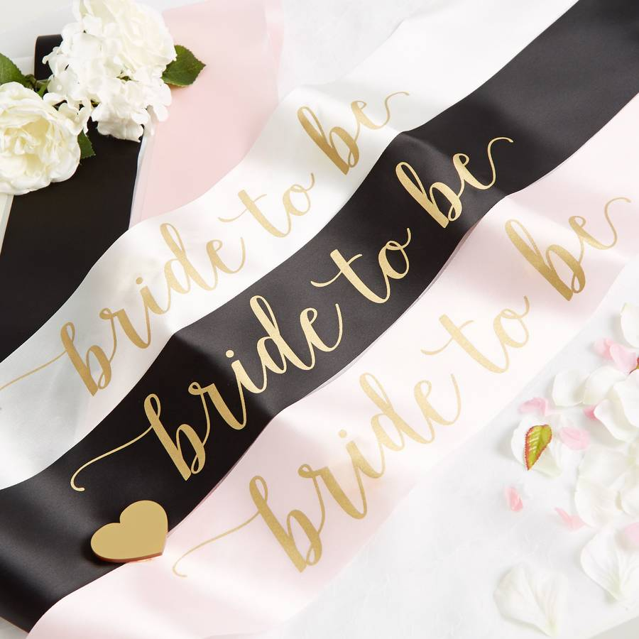 Satin Bride To Be Hen Party Sash By Team Hen