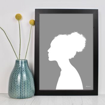 Contemporary Personalised Silhouette Portraits