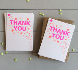 A Pack Of 12 Riso Print Thank You Postcards - what's new