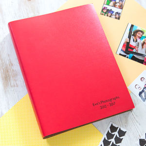 Personalised Blackboard A4 Leather Photo Album