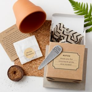 Personalised 'Thank You For Helping Me/Us Grow' Set - 100 best gifts