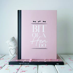 Personalised Hen Party Message And Memory Book