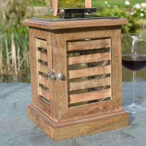 Nautical Wood Candle Lantern - shop by price