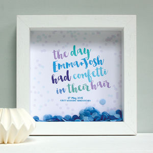 Personalised Anniversay Confetti Box Framed Print