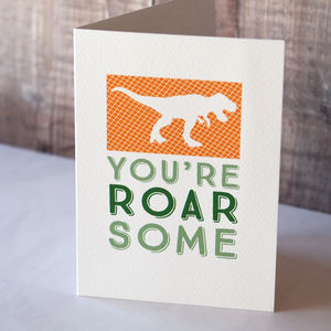 Dinosaur Card - birthday cards