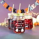 Personalised Halloween Mason Jar