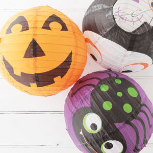 Halloween Spooky Faces Hanging Paper Lanterns