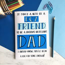 Funny Father's Day A5 Card For Boyfriend