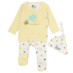Bumblebee Three Piece Baby Clothing Gift Set