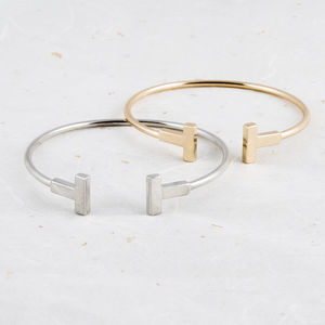 Contemporary T Bar Bangle - bracelets & bangles