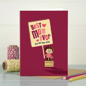 Mum 'Best Mum' Card - birthday cards