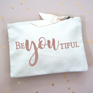 Slogan Make Up Bag Be You Tiful - new in health & beauty