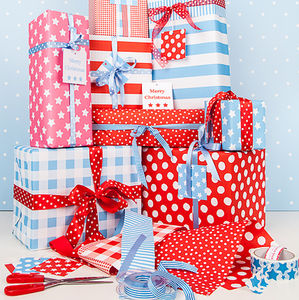 Double Sided Christmas Wrapping Paper - traditional christmas