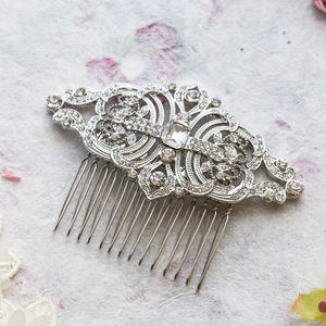 Aviva Crystal Hair Comb - tiaras & hair combs