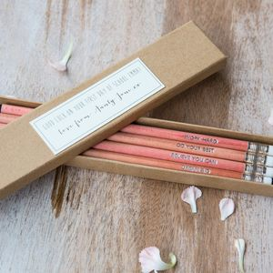 Personalised Back To School Pencils Gift Box - first day of school
