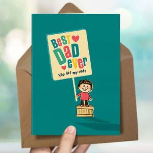Dad 'Vote Dad' Card