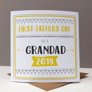 First Father's Day Grandad Card - what's new