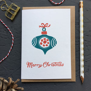 Bauble Christmas Card Pack