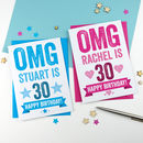 Omg Personalised 30th Birthday Card