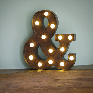 Vegas Metal LED Circus Letter Light Ampersand - wall lights