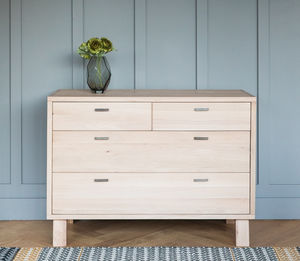 Malmo Solid Oak Chest Of Drawers - furniture