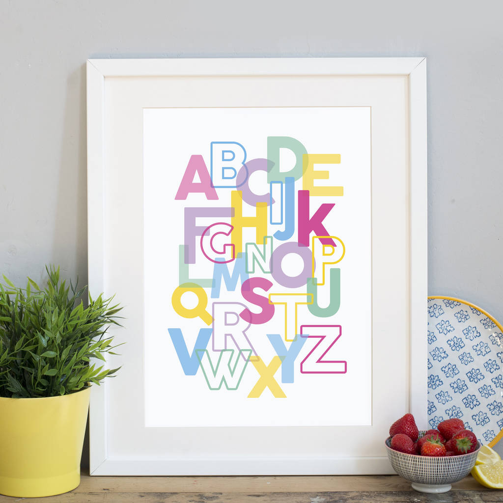Alphabet Letters Print By Jane Katherine Houghton Designs