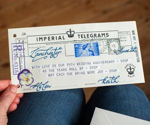 1st wedding paper anniversary gifts notonthehighstreet personalised anniversary telegram anniversary cards solutioingenieria Gallery