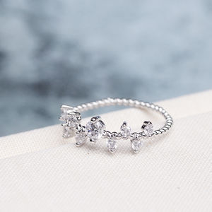 Tiny Detailed Crystal Cluster Ring - new in jewellery