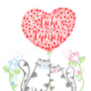 Personalised Mr And Mrs Love Cats Print