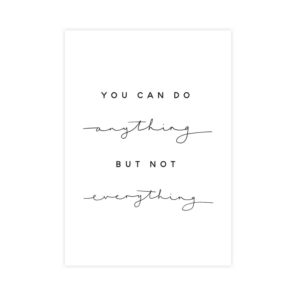 you can do anything but not everything print by paper and wool