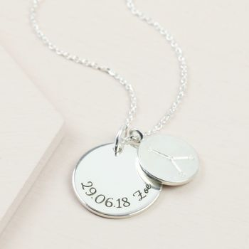 Personalised Sterling Silver Constellation Necklace