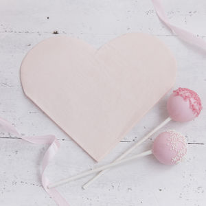 Pastel Pink Heart Shaped Party Paper Napkins